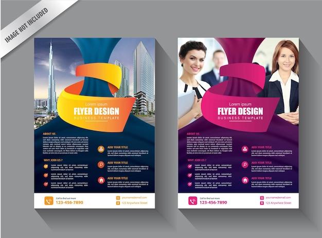 Modello di business flyer per la progettazione del rapporto annuale