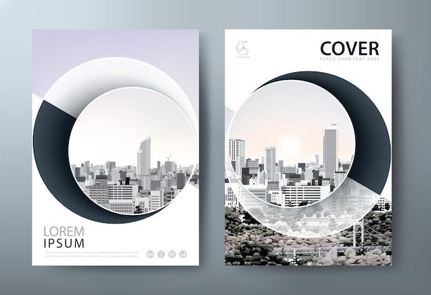 Layout di modelli di copertina del libro di progettazione di volantini in formato a4