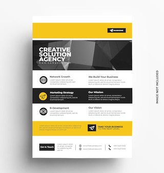 Flyer design layout template
