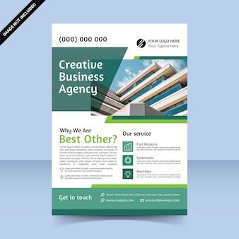 Il modello di progettazione di volantini migliore agenzia creativa che fornisce servizi per migliorare il business