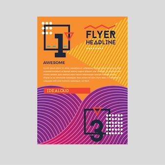 Flyer fluid geometric backround