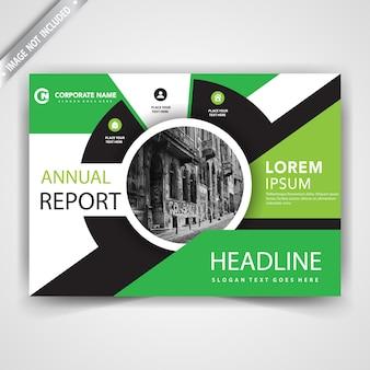 Volantino di design verde