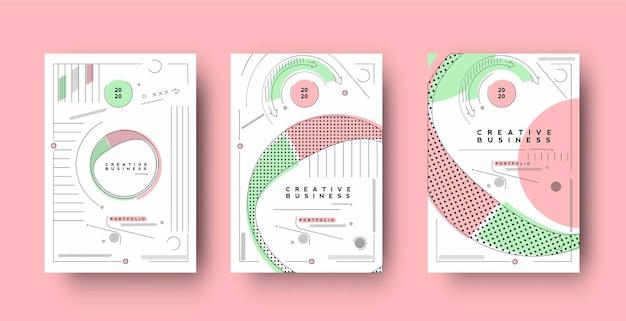 Volantino amp poster cover design in formato a4 illustrazione del modello