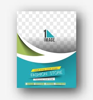Progettazione di volantini, poster e riviste modello di layout in formato a4 vector