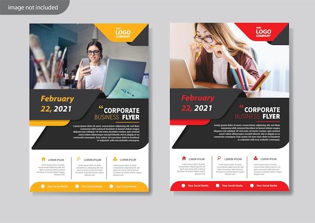 Modello di volantino per la relazione annuale di layout di copertina