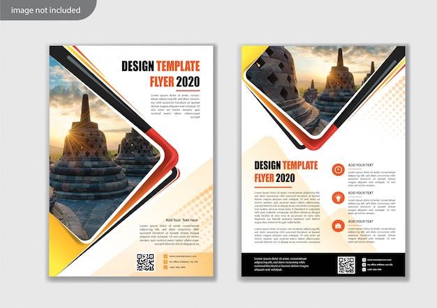 Modello di progettazione volantino per relazione annuale layout di copertina