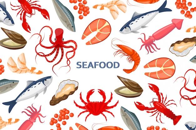 Volantino con frutti di mare