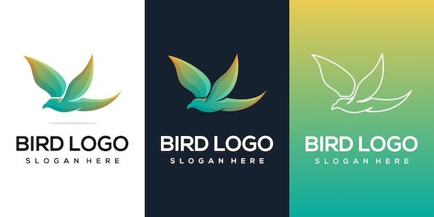 Logo di uccello volante
