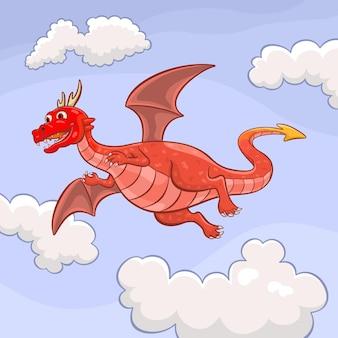 Illustrazione del drago volante