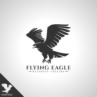 Modello di logo dell'aquila volante