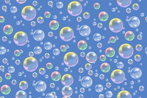 Struttura di bolle di sapone trasparenti volanti