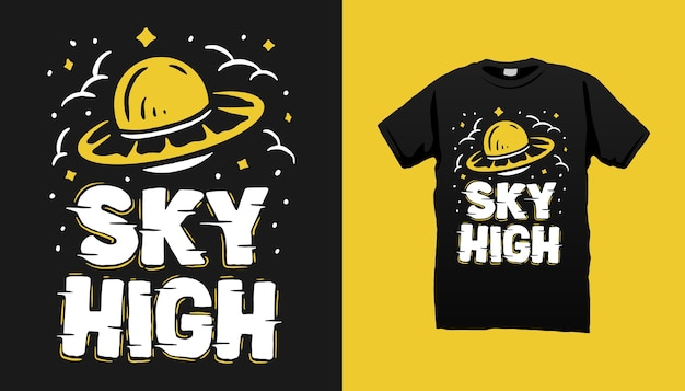Flying ufo tshirt design