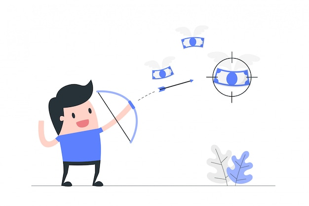Illustrazione di concetto di messa a fuoco.