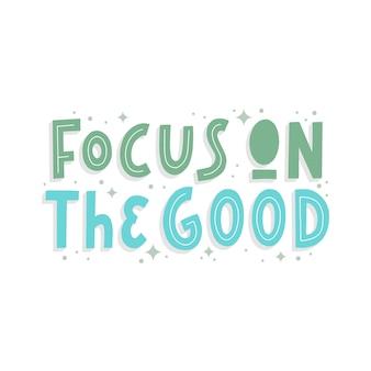 Concentrarsi sulla buona citazione lettering