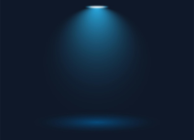 Sfondo riflettore messa a fuoco con sfondo blu
