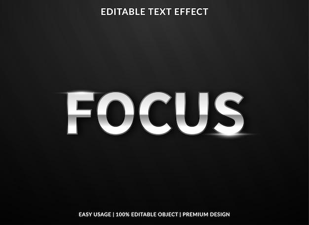 Focus modello effetto testo