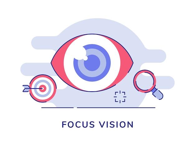 Metta a fuoco la sfera dell'occhio di visione della lente d'ingrandimento del bersaglio della freccia