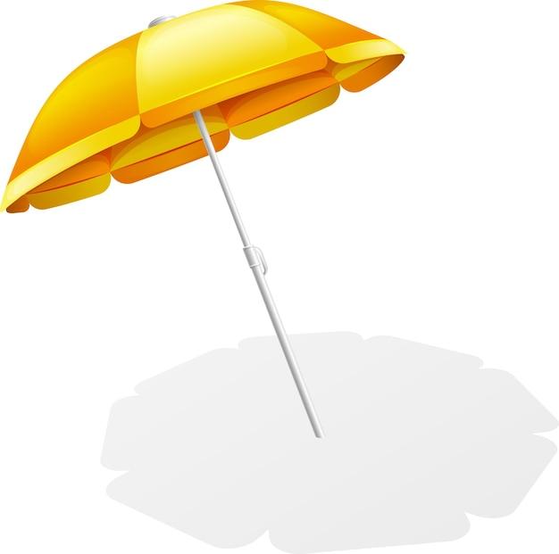 Piegare l'ombrellone con ombra isolata