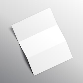Disegno di vettore di carta mockup piegato