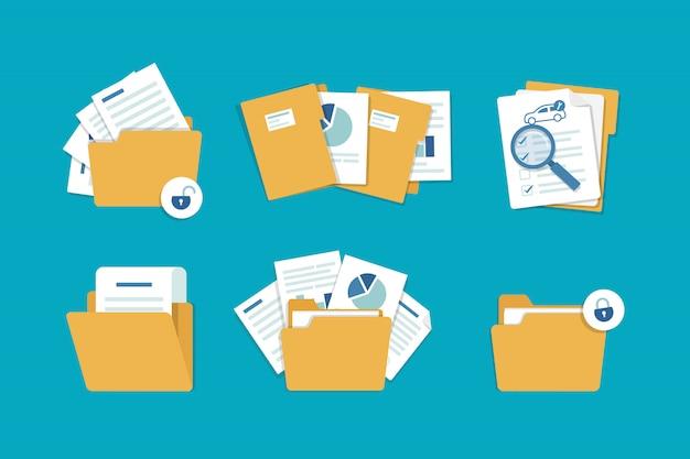 Cartella con illustrazione dei documenti