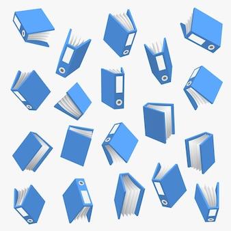 Cartella con carta su sfondo bianco. illustrazione vettoriale