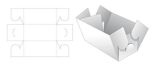Modello fustellato ciotola pieghevole