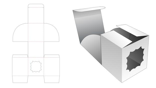 Scatola di cartone pieghevole con sagoma di finestra fustellata