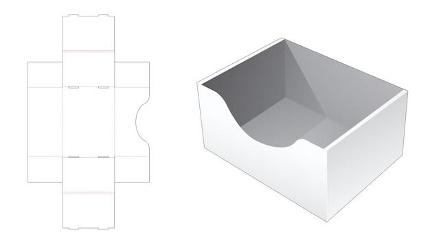 Modello fustellato per vassoio pieghevole