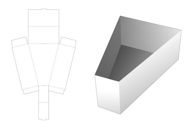 Modello fustellato vassoio triangolare pieghevole