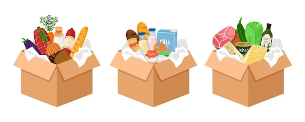 Set di scatole di cibo