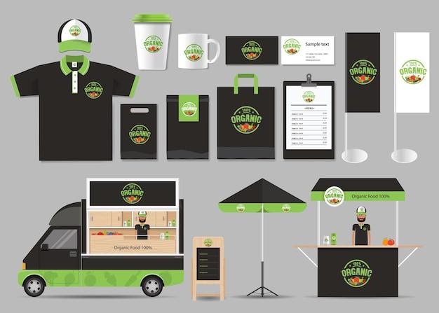 Modello di identità del marchio alimentare