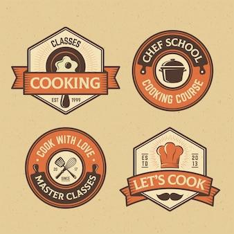 Collezione di badge food and cook