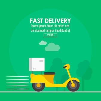 Progettazione di consegna del cibo, illustrazione vettoriale