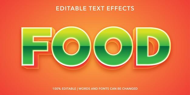 Effetto di testo modificabile alimentare