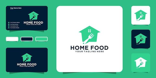 Ispirazione per il design del logo della casa del cibo e ispirazione per i biglietti da visita