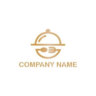 Elementi di design del logo dell'icona del cibo con cucchiaio e forchetta resto vector logo design