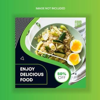 Storie di instagram di cibo feed template post