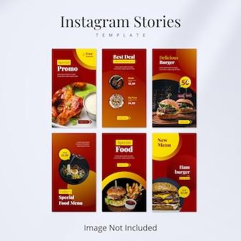 Modello di storie di cibo su instagram