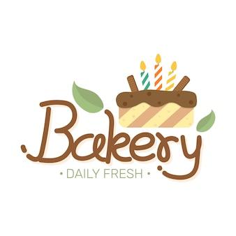 Etichetta alimentare panetteria dolce panetteria dessert negozio di dolci modello di progettazione