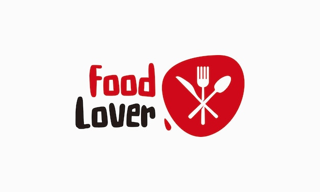 Il logo di food lover progetta il vettore di concetto, icona di simbolo del logo del ristorante restaurant