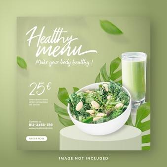 Post di social media banner menu cibo