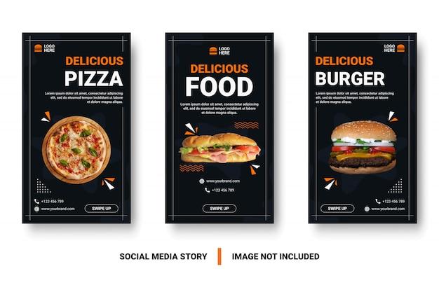 Menu di cibo banner social media post.