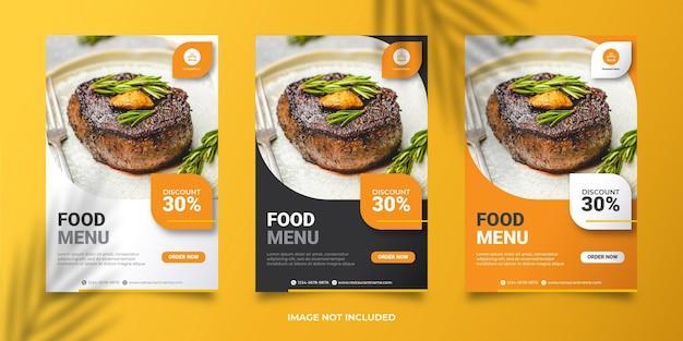 Modello di banner menu di cibo vettore premium