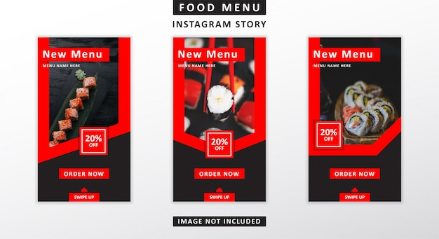 Storie di instagram menu alimentare