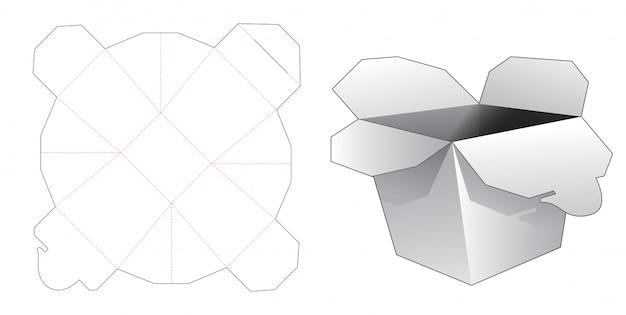 Modello tagliato della scatola di imballaggio per alimenti