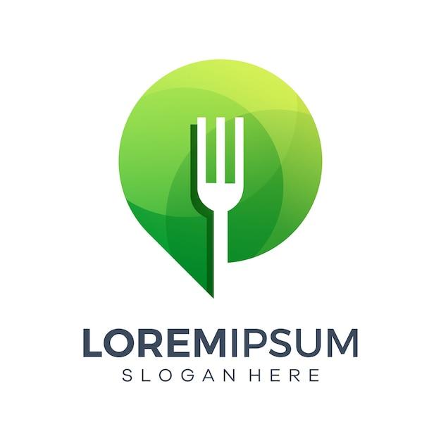 Modelli di logo di cibo posto icona