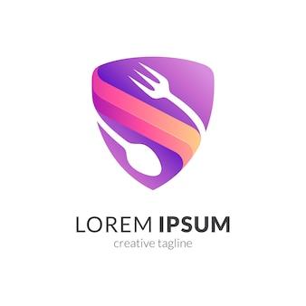 Modello di logo di qualità del cibo