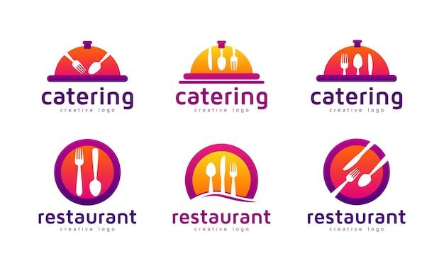 Set di raccolta logo ristorante o catering
