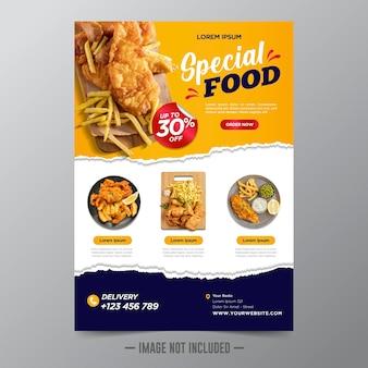Modello di volantino per cibo e ristorante