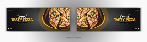 Offerta di vendita di ristoranti di cibo social media post pagina di copertina di facebook timeline web online